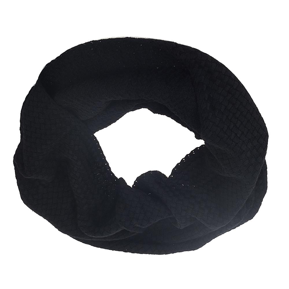 Снуд черного цвета с плетеным узором