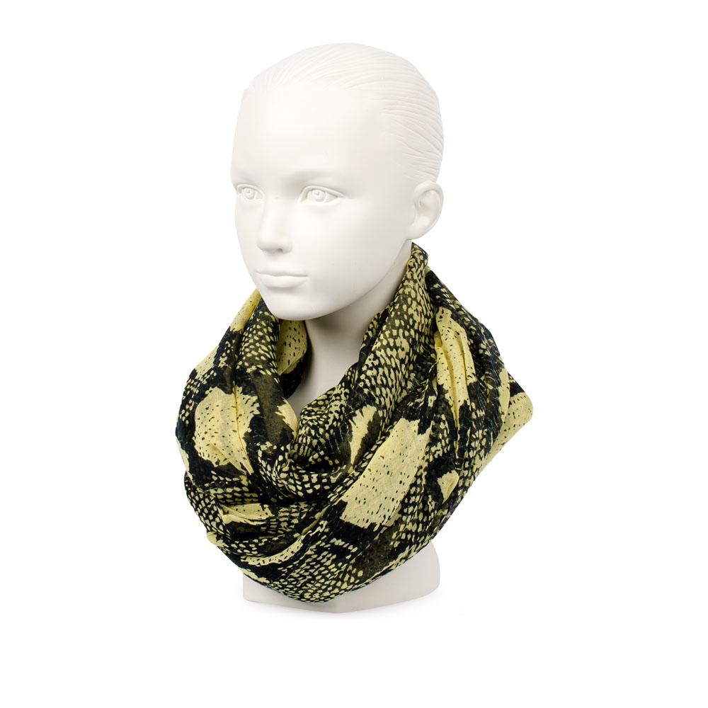 Шарф CorsoComo (Корсо Комо) 77-66-01 к.п. Шарф жен текстиль желт. черн.