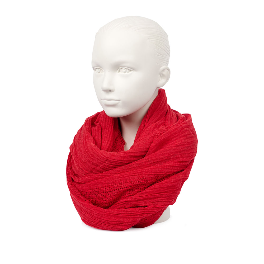 Шарф CorsoComo (Корсо Комо) Шелковый шарф алого цвета