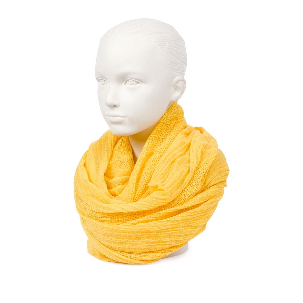 Шелковый шарф солнечно-желтого цвета