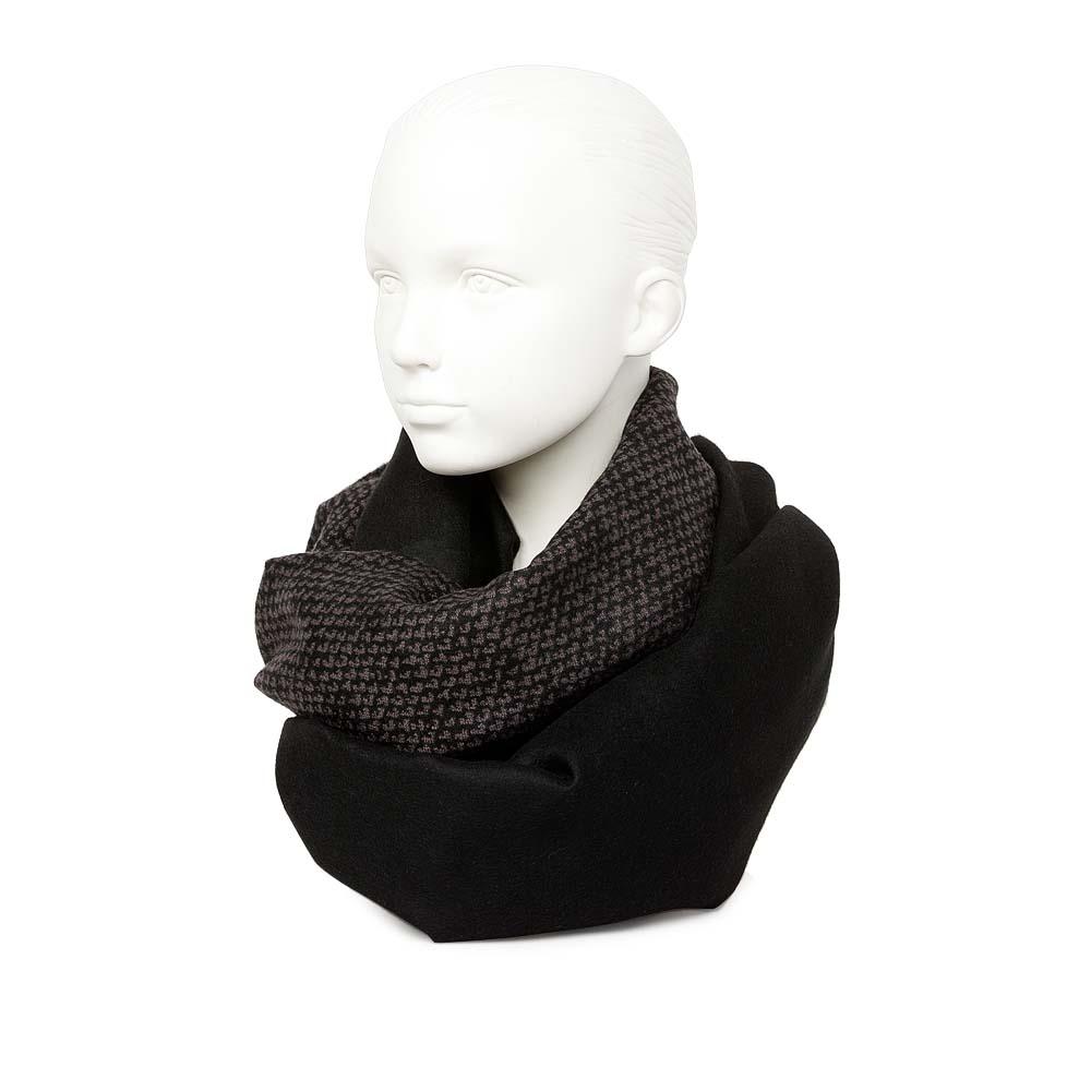 """Широкий шарф коричневого цвета с принтом """"гусиная лапка"""""""