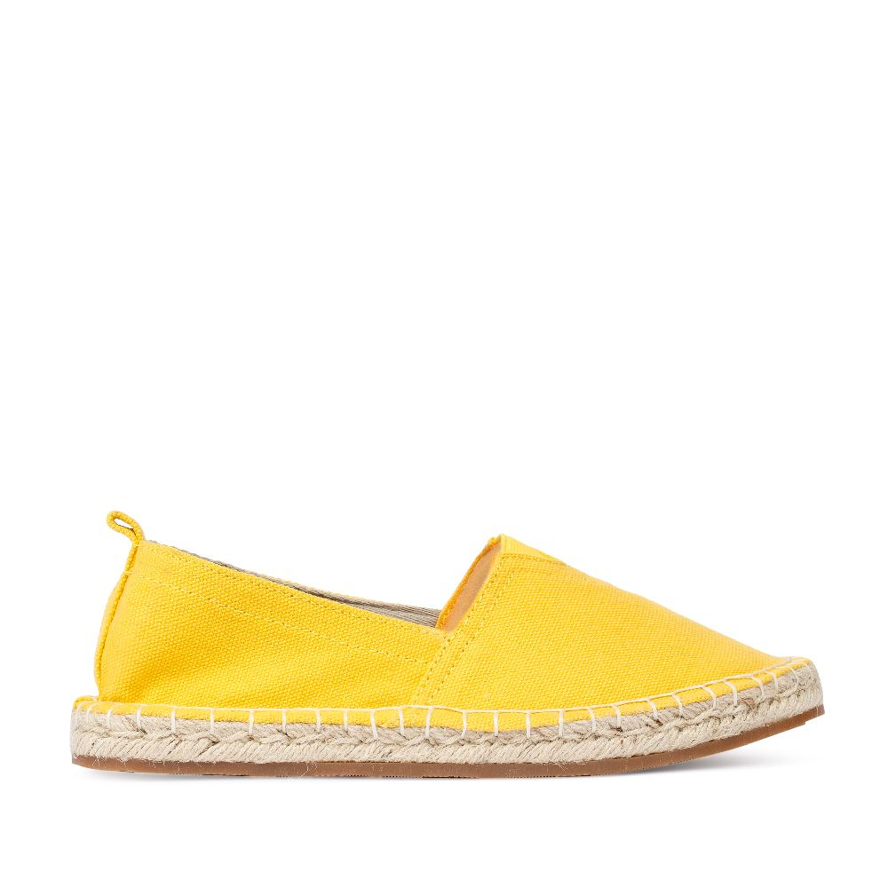Эспадрильи из текстиля жёлтого цветаПолуботинки женские<br><br>Материал верха: Текстиль+Джут<br>Материал подкладки: Без подкладки<br>Материал подошвы: Резина<br>Цвет: Жёлтый<br>Высота каблука: 0 см<br>Дизайн: Италия<br>Страна производства: Китай<br><br>Высота каблука: 0 см<br>Материал верха: Текстиль<br>Цвет: Желтый<br>Вес кг: 1.00000000<br>Размер: 35
