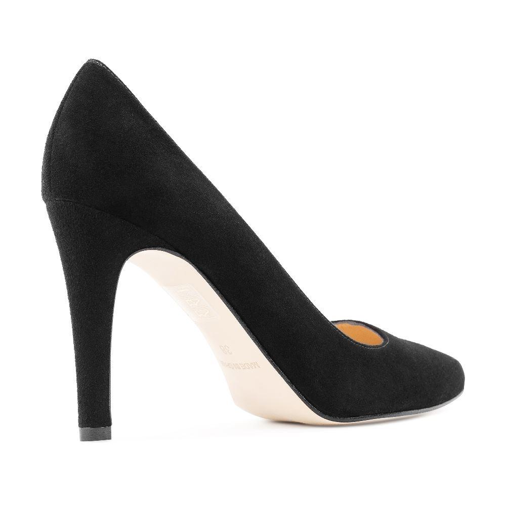 Туфли на каблуке CorsoComo (Корсо Комо) 96-001-1 к.п. Туфли жен велюр черн.