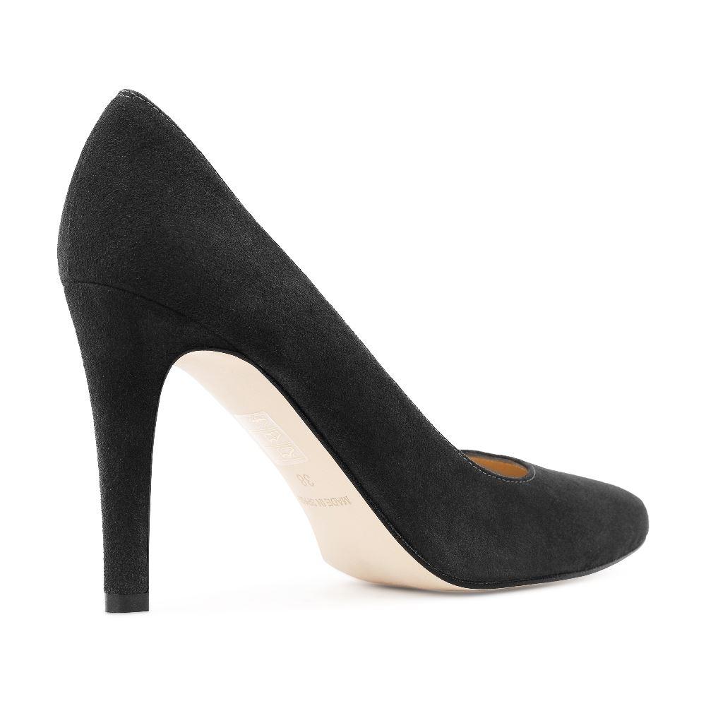 Туфли на каблуке CorsoComo (Корсо Комо) 96-001-2 к.п. Туфли жен велюр сер.