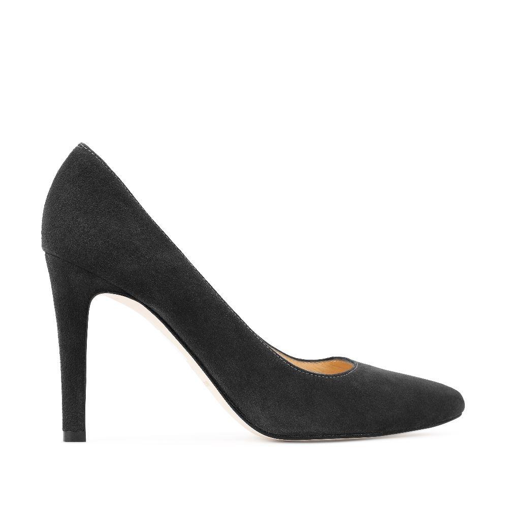 Туфли из замши темно-серого цвета