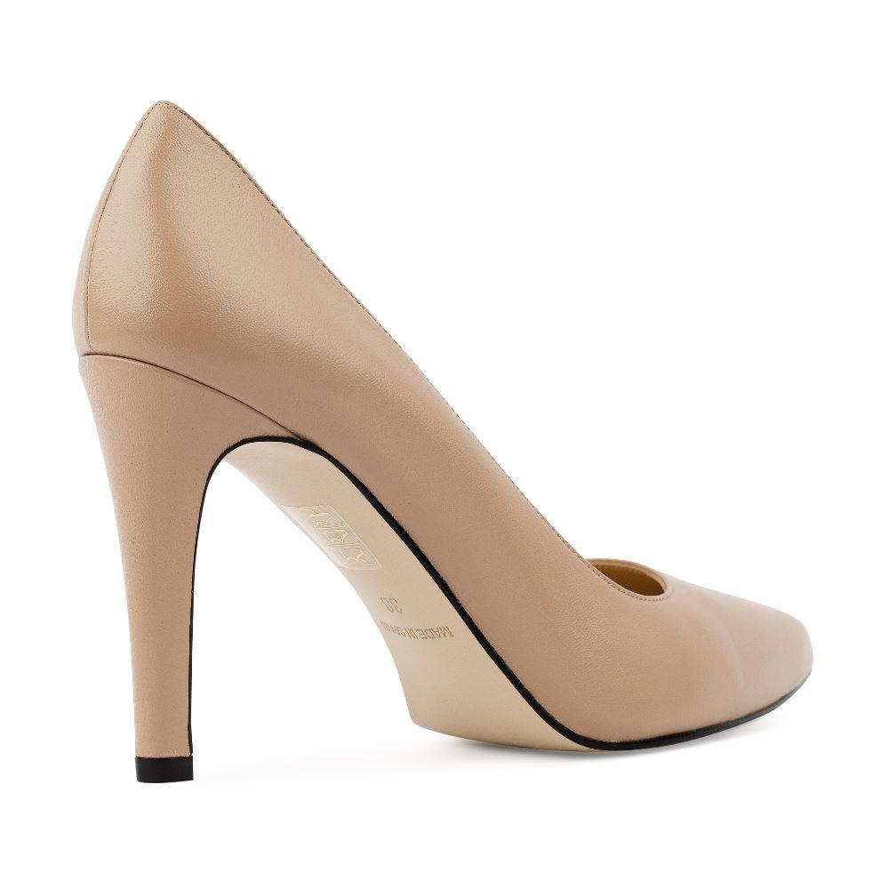 Туфли на каблуке CorsoComo (Корсо Комо) 96-001-4 к.п. Туфли жен кожа беж.