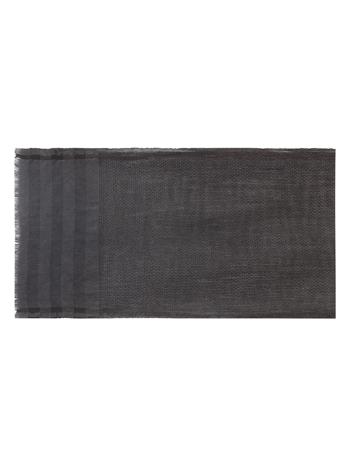 Шарф Eleganzza Палантин из шерсти и хлопка серого цвета