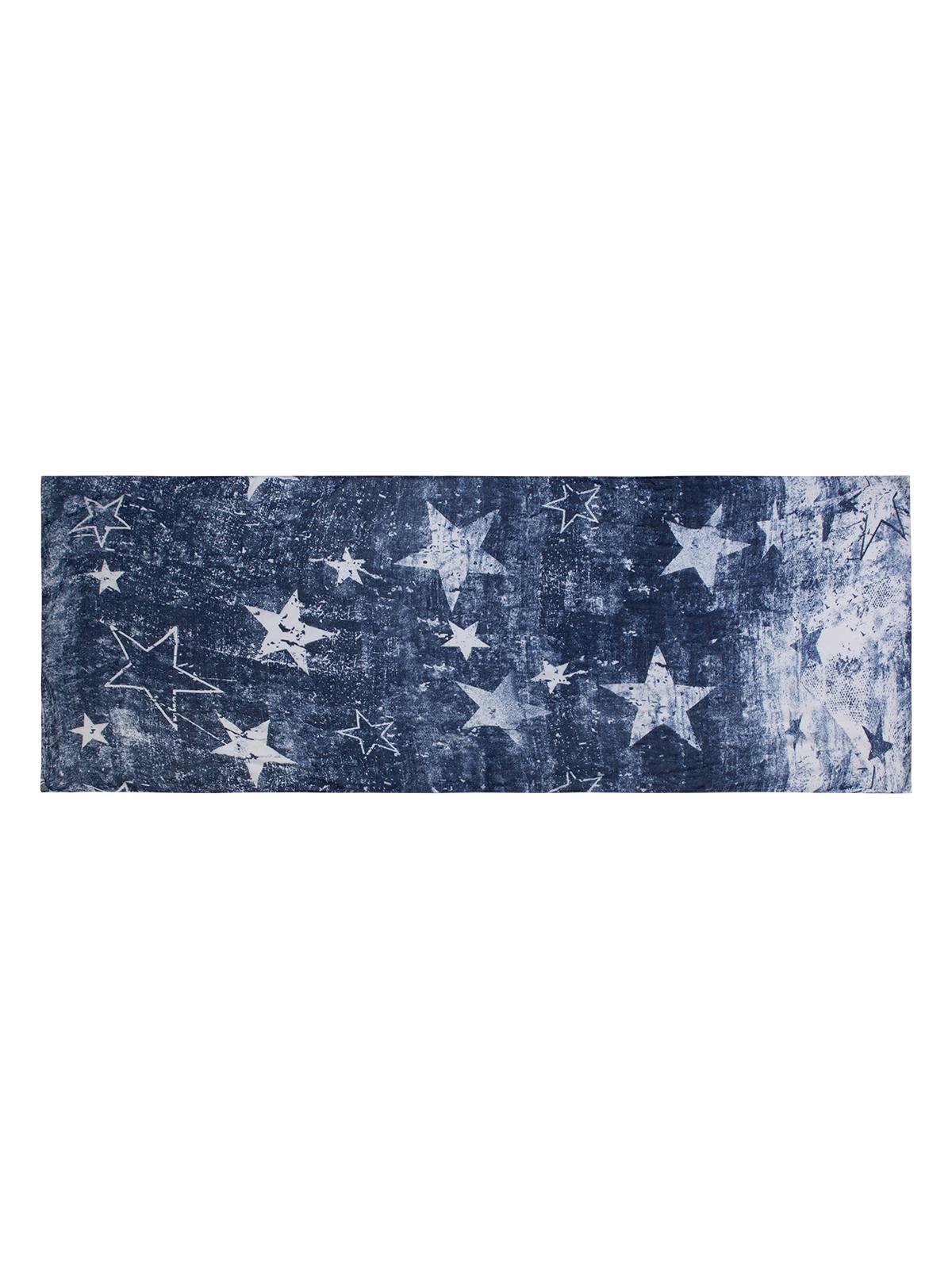 LABBRA Шарф синего цвета с принтом LBL27-272-12
