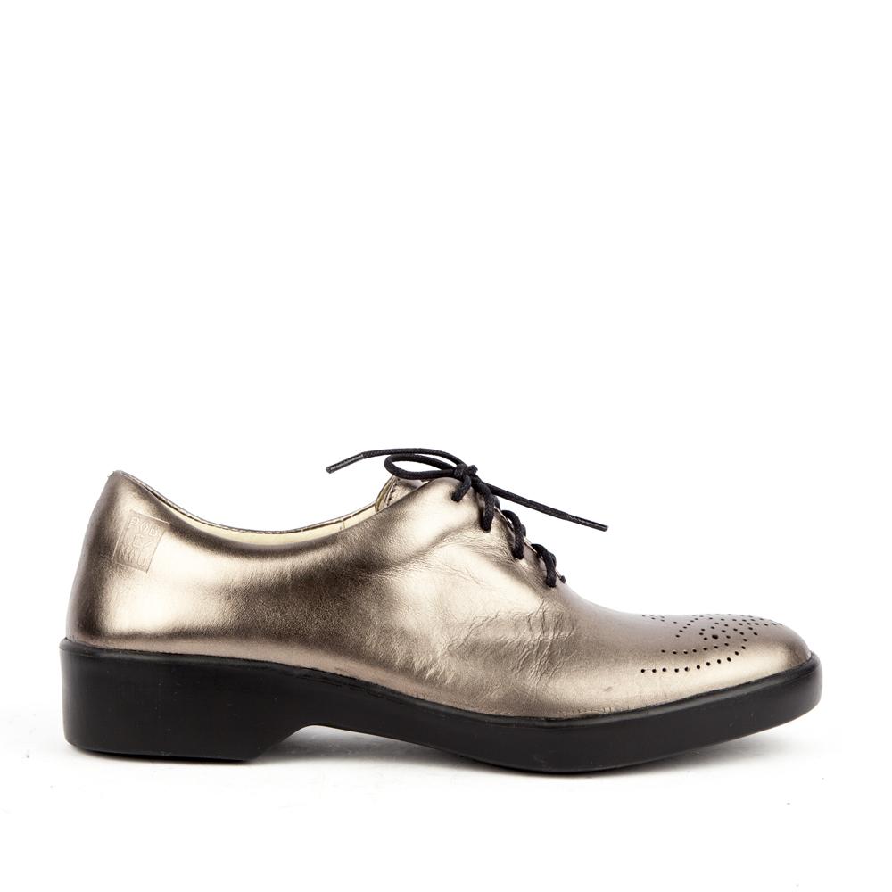 Женские ботинки POBLENOU Ботинки из металлизированной кожи с перфорацией