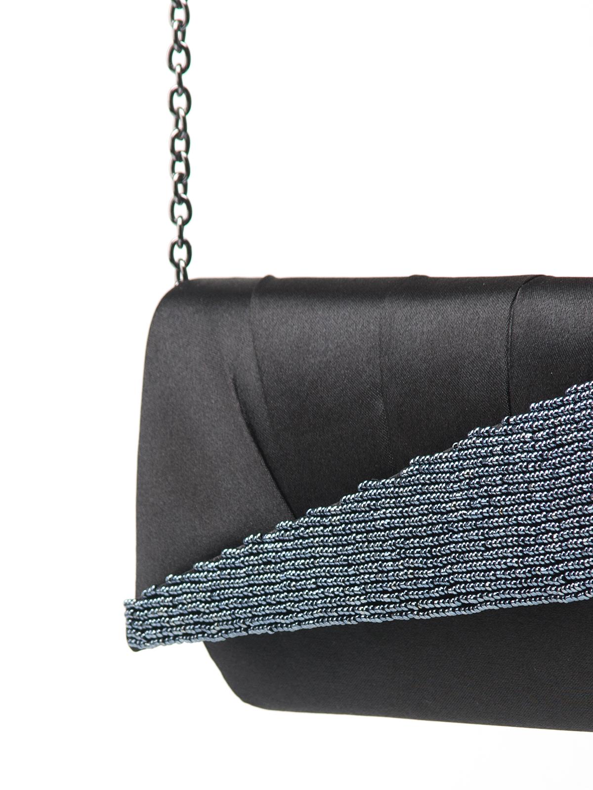 Сумка Eleganzza Клатч черного цвета с бисером