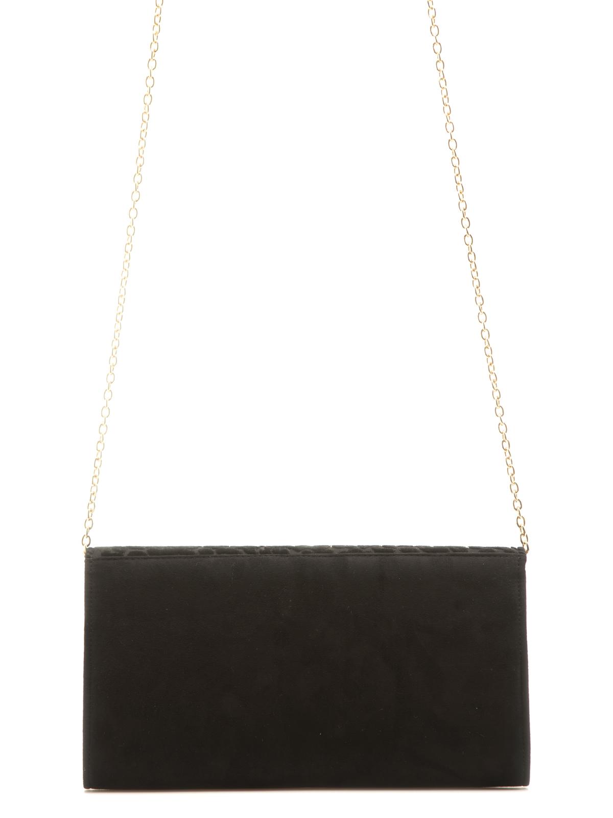 Сумка Eleganzza Клатч из бархата черного цвета на цепочке