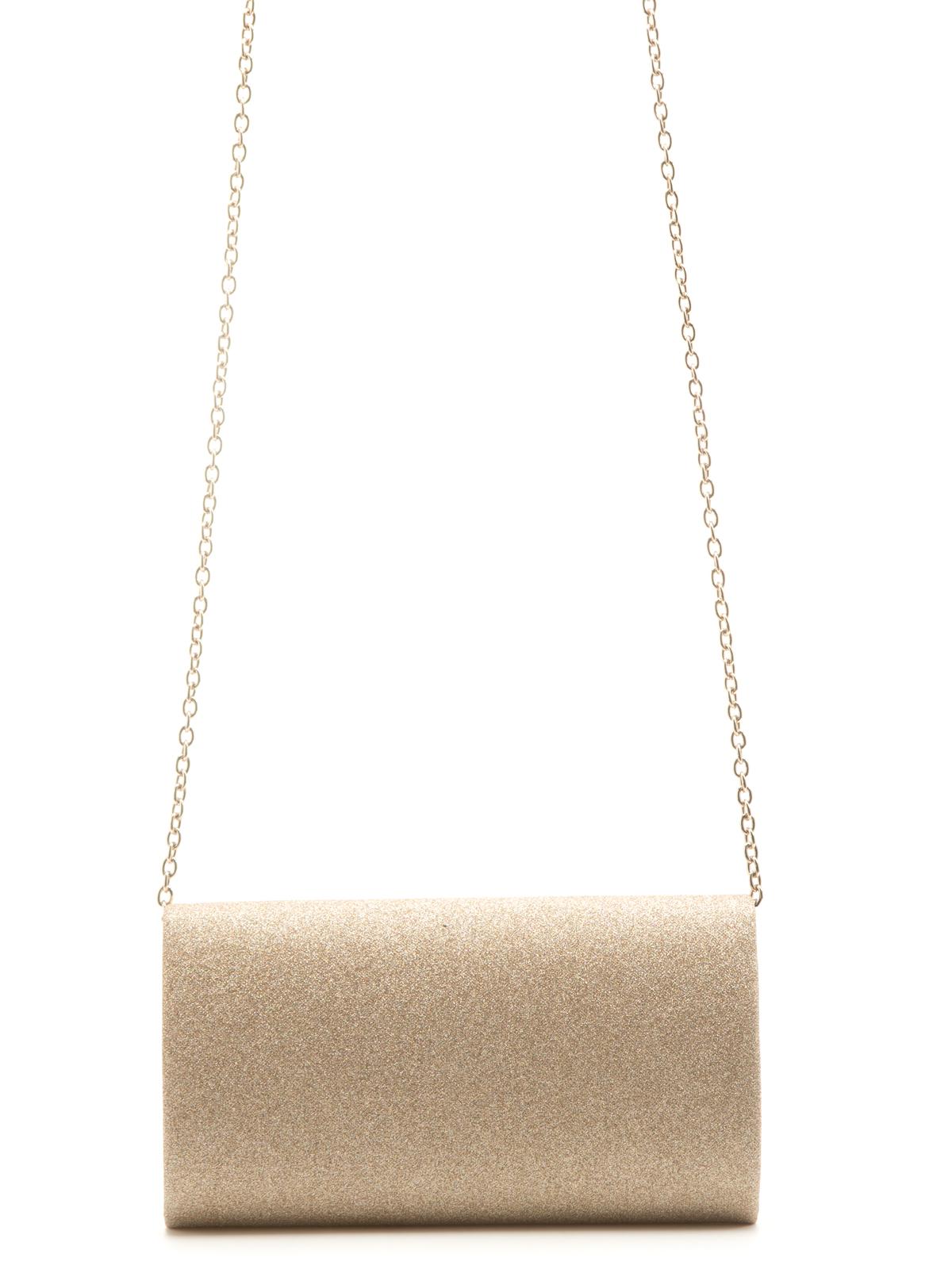 Сумка Eleganzza Клатч бежевого цвета на цепочке